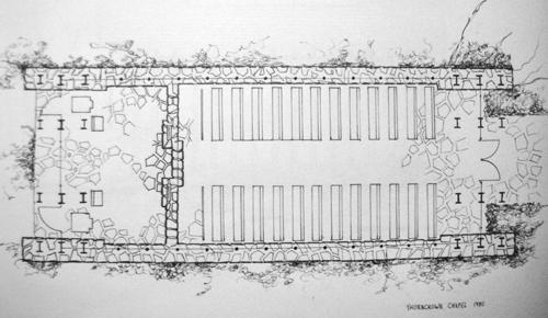 Thorncrown Chapel Floorplan - Plan View